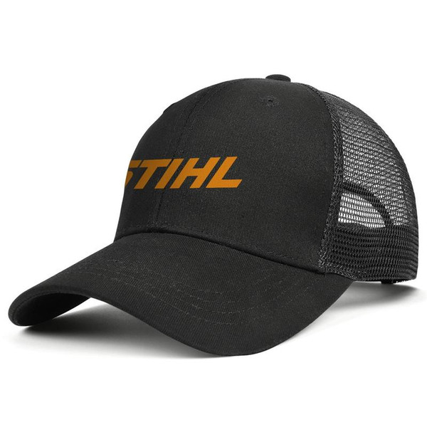 Womens Mens Flat-along Adjustable STIHL Punk Hip-Hop Cotton Snapback Hats Golf Military Caps Airy Mesh Hats For Men Women