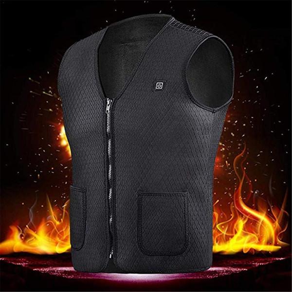 Мужчины Женщины Открытый USB Инфракрасный электрический обогрев жилет куртка зимы Гибкая Тепловое Одежда Жилет для спорта Туризм