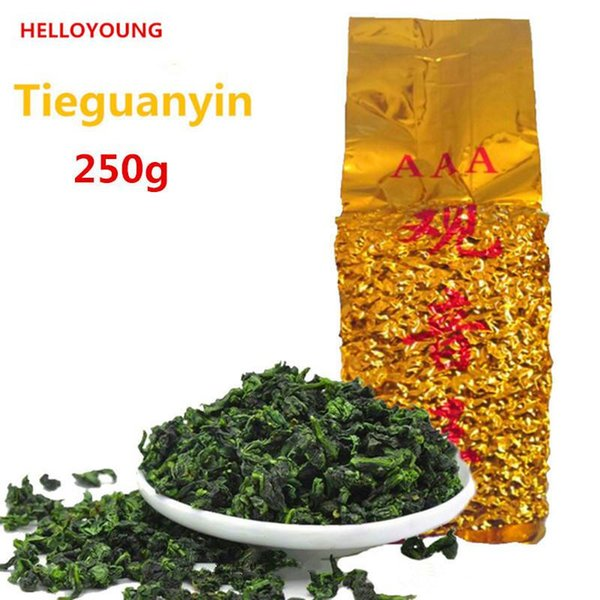 Preferenza 250g organico cinese Oolong vetrina Anxi Tieguanyin tè verde Salute New Spring Tea Green Food confezionamento sottovuoto