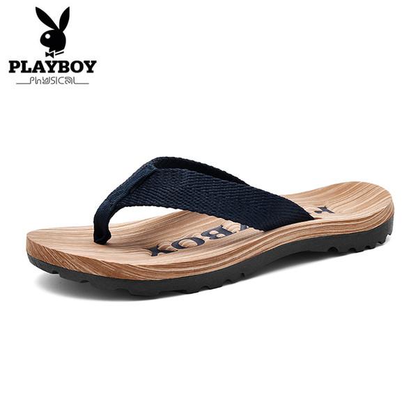 PLAYBOY Новые Повседневные Тапочки Мужчины Удобные Летние Горки Размер 38-44 Новая Мода Человек Крытый Снаружи Обувь
