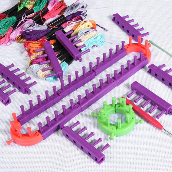 Knitting Loom DIY gespleißter Loom geflochtener Rahmen Kind pädagogischer langer Ring eingestellt mit Hakennadeln strickende gewebte Schals-Hüte Socken