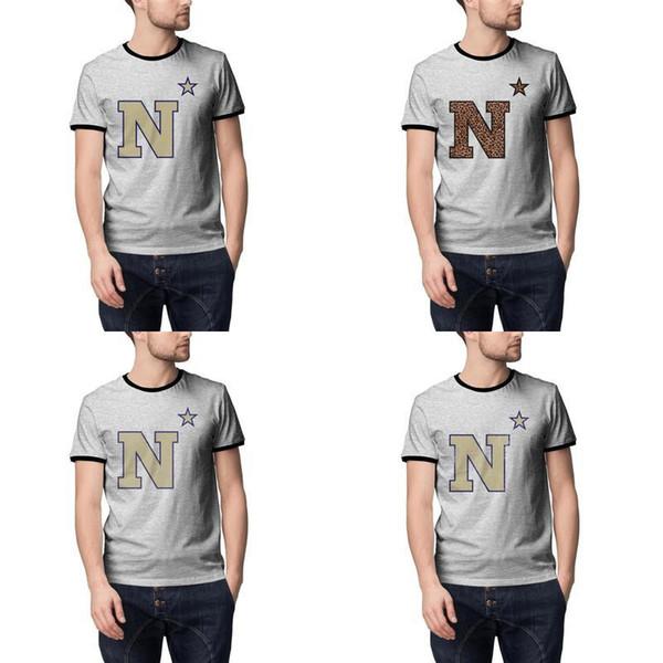 Maryland Marine Logo Logo football hommes d'asile gris été Hommes T-shirts Pour Vintage vieux Imprimé Mesh