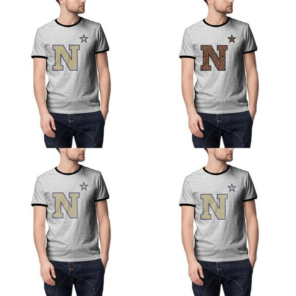 Maryland Navy Midshipmen football logo grey Summer Men T Shirt per maglia vintage vecchia stampa