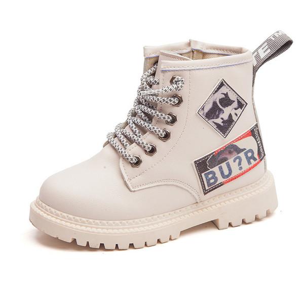 Los niños Zapatos de las muchachas de los niños de invierno botas para Soft catamita inferior Martin botas de todos los partidos de zapatos