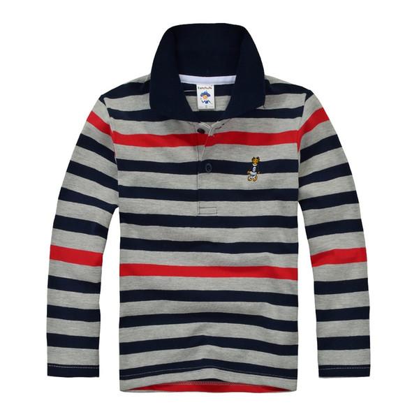 De haute qualité pour enfants garçons Polo Marque enfants Chemise à manches longues en coton chaud T-shirts