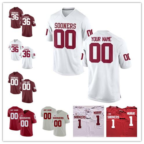 Personalizado Oklahoma Sooners Jersey fere o CeeDee Cordeiro Mykel Jones Trey Sermão Marquise Brown Brooks Qualquer Nome Número College Football Jerseys