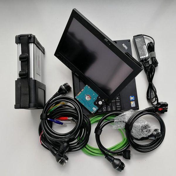 Super MB Star C5 sd verbinden MB SD C5 Diagnose-Tool mit Laptop X200t Touchscreen mit Diagnose-Software V2019.07 bereit Arbeit