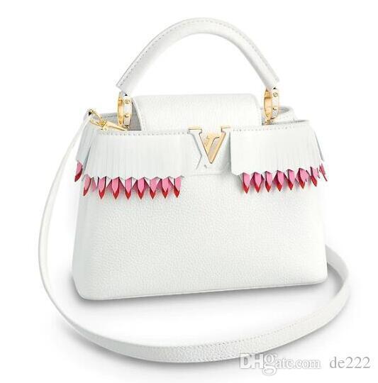LVLV Saco Capucines Bolsas Top Handles 2019 marca designer de moda sacos de luxo mochila totes bolsas carteira bolsa crossbody Epi Couro