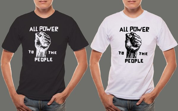 New BPP Black Panther Party Slogan Men/'s Black T-Shirt S 3XL