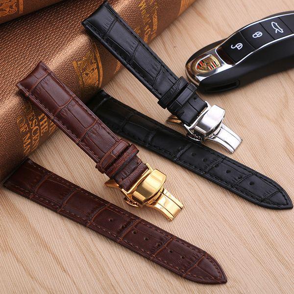 Cinturino dell'orologio cinturino in vera pelle cinturino in acciaio inox 13mm 14mm 15mm 16mm 17mm 18mm 19mm 20m 21mm 22mm cinturino regalo