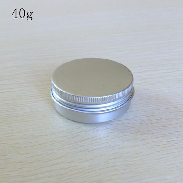 100pcs / lot 40g kleine Dose Verpackungskasten nachfüllbar Behälter Aluminium kosmetische Speicher-Gläser kosmetische Schraubverschluss- Probenbehälter