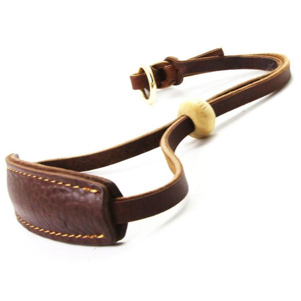 Free Shipping Extra Width Genuine Leather Dog Collar Slip Chain Adjustable Pet Training Choke Growing Heavy Duty for Pitbull Greyhound
