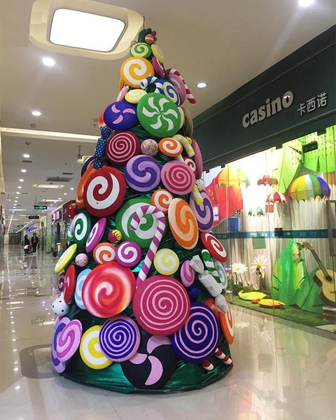 Beautiful Christmas.Large Candy Christmas Tree Package 3 Meters Beautiful Christmas Tree Decoration Props Display For Store Home Garden Shopping Mall Buying Christmas