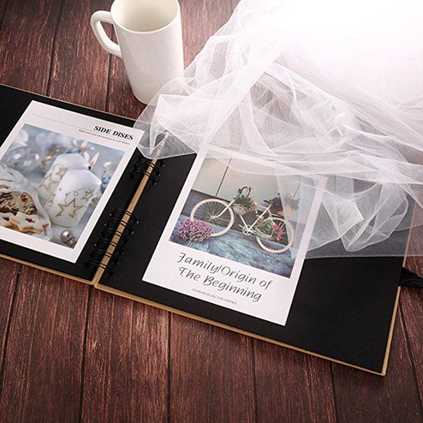 New Scrap DIY Photo Album Craft Paper Valentine's Day Gifts Wedding Guest Anniversary Travel Memory 20/40 Pages