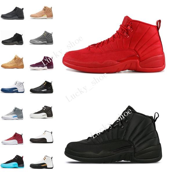 Nouveau 12 12s Gym red Bulls Michigan chaussures de basket-ball International Flight College Marine Jeu de la grippe UNC hommes baskets de sport formateurs de designer