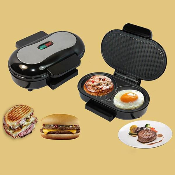 high quality BBQ Steak Hamburger Electric Grill Meat Roaster Machine Egg Frying Pan Panini Sandwich Maker Bread Oven B