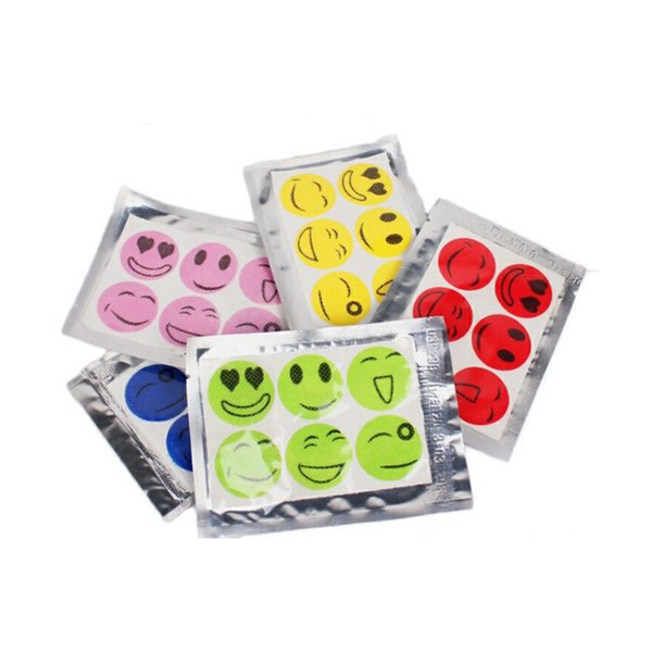 top popular 6000 PCS (1 set=6 pcs) Anti Mosquito Sticker Patch Citronella Mosquito Killer Smiling Face Mosquito Repellent 2020