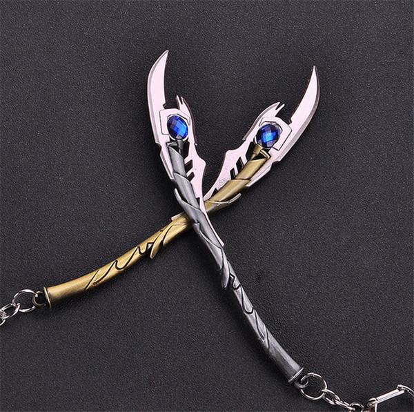 Avengers loki Scepter Keychain Schlüsselanhänger Ancient Silver Bronze Weapon Schlüsselanhänger Fans Fashion Jewelry Drop Ship 340126