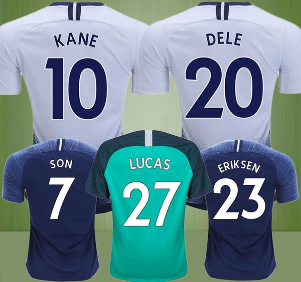 7dc2bf8d07e Top thailand quality KANE spurs Soccer Jerseys 2018 2019 LUCAS ERIKSEN DELE  SON home jersey 18 19 Football shirt Men and KIT SET uniforms