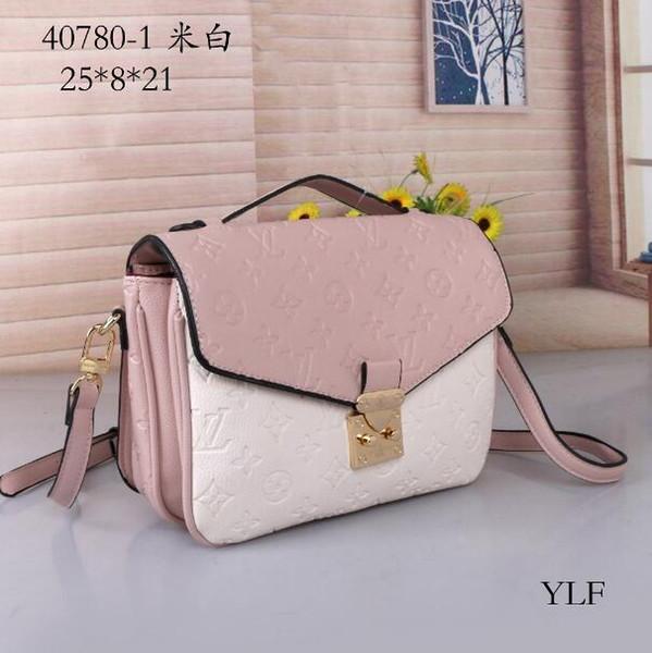 Бесплатная доставка высокое качество натуральная черная тисненая кожа женская сумка Pochette Metis сумки на ремне Crossbody сумки посыльного ба # 40780-1