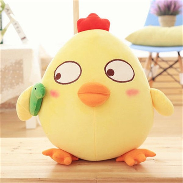 20170632 Hot Sales Cute And Interesting Chicken Personality Expression Wrapped Pillow Plush Toy Girl Heart Child's Gift
