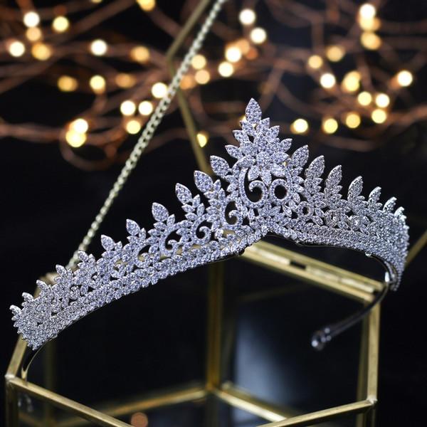 Designer Wedding Tiaras 2018 Crystals Zircon Baroque Bridal Crowns Tocado Novia Bride Hair Jewelry Wedding Hair Accessories Y19061503