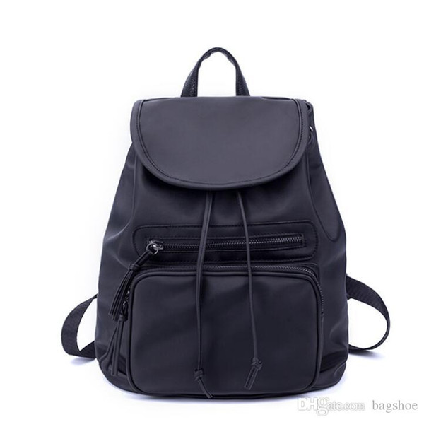 New Korean fashion shoulder bag female Oxford cloth bag casual wild nylon backpack Lining texture Polyester luggage shape Vertical square sh