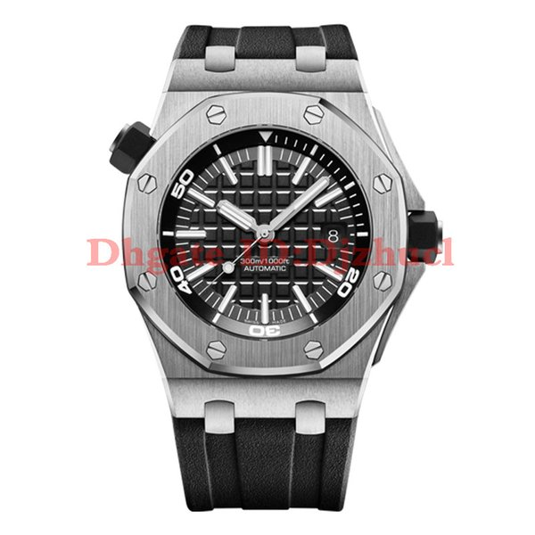 2021-new mens watches top quality automatic movement 43MM rubber strap mens watches free shipping orologio di lusso montre de luxe