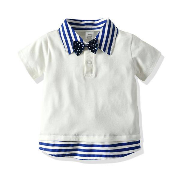 top popular Boy's T-shirt Short Sleeve Polos Collar Children T-shirt Fashion Casual Summer Kids T-shirt 90 100 110 120 130 2021