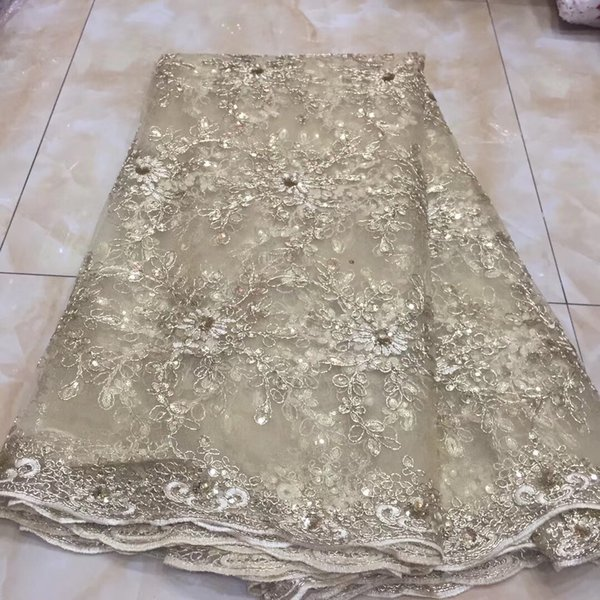 New Style Nigerian Lace Fabric 2018 High Quality Tulle African Lace Fabric For Wedding Dress French Tulle Lace Material KYY940