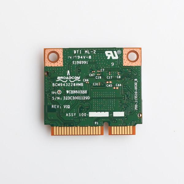 Wrreless BCM943228HMB 300Mps 2.4//5GHz Bluetooth 4.0 Mini PCI-E Laptop Wifi Card