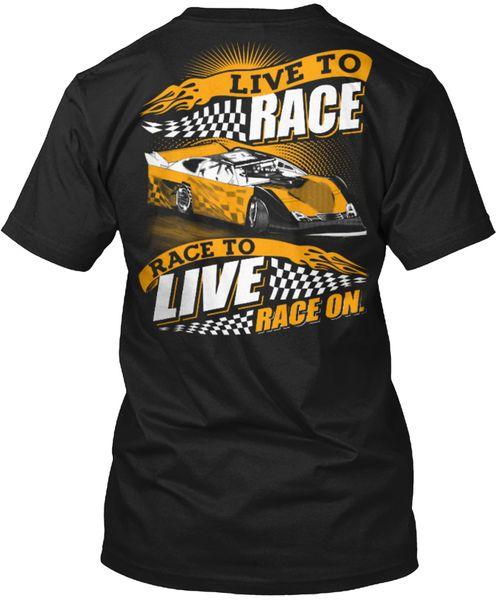 mens designer t shirts shirt Drag Racinger Car S For Men - Live To Race On Popular Tagless Tee T-Shirt
