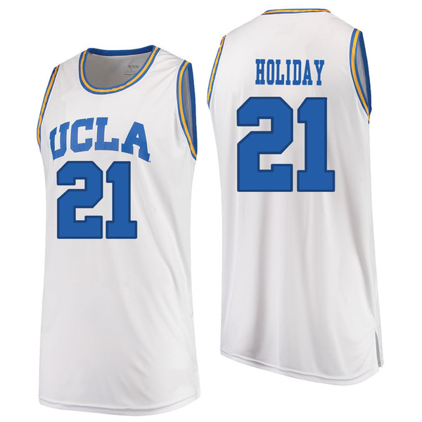 newest b5df6 62c95 2019 Aaron Holiday Stitched UCLA Bruins Zach LaVine Jrue Holiday TJ Leaf  Kevon Looney Men'S White Blue O Neck College Jersey From Linxiaolin152831,  ...