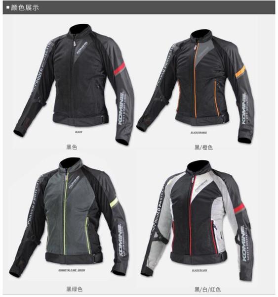 KOMINE / jk-098 veste d'équitation moto festival printemps-été coupe-vent respirant cool automne jersey 3