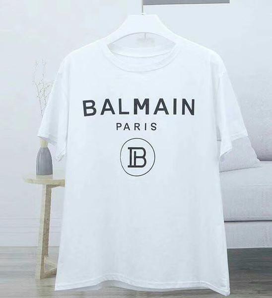 2019 Nuevas camisetas de Balmain Llegada Famoso lujo Francia Marca Balmain Factory Modelo de moda Skinny Hole para mujeres hombres