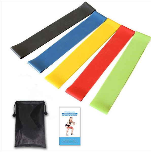 Resistance Band Fitness 5 Levels Latex Gym Strength Training Rubber Loops Bands Fitness Equipment Sports yoga belt Toys Elastic Band LT417