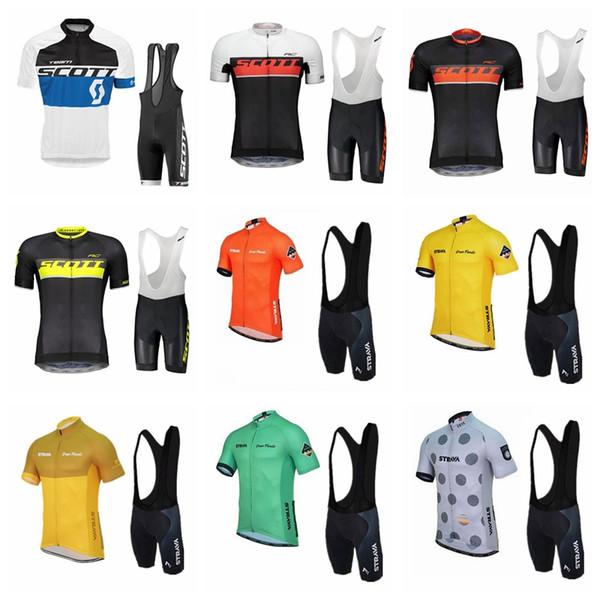 2019 SCOTT STRAVA ekibi Bisiklet Formaları Setleri Serin Bisiklet Suit Bisiklet Jersey Anti Bakteri Bisiklet Kısa Gömlek Önlüğü Şort Bisiklet Clothing52270