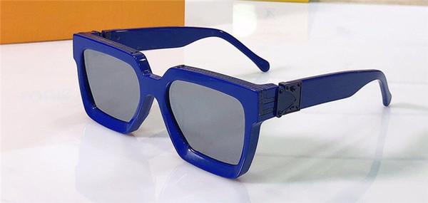 dark blue silver lens
