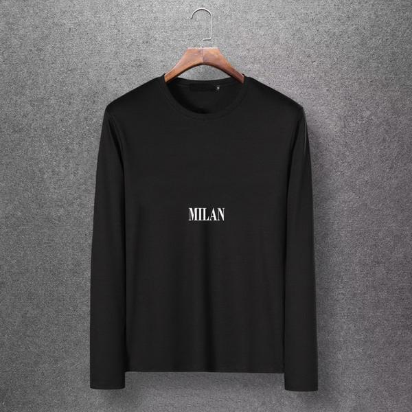 2019 MILAN Outono Designer Marca Mens Moda Camisa de Manga Longa M-6XL Plus Size Camisas de Alta Qualidade Casual Tops Camisetas EAR98304