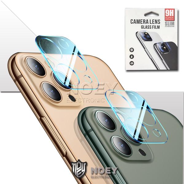 Objectif PARFAITEMENT en verre trempé Film de protection pour iPhone 11 Pro-déflagrant Caméra Protector Films Mode de protection Len Clair Conception