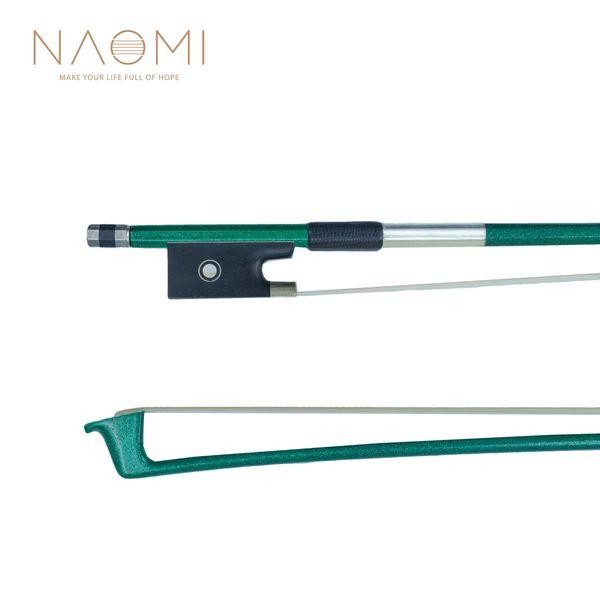 NAOMI 4/4 Green Carbon Fiber Violin Bow Carbon Fiber Bow Well Balance Horse Hair Violin Bow Accessories