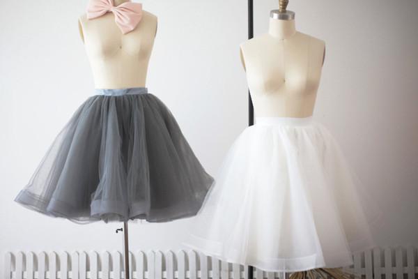 Prom Dress Ivory Tulle Skirt Short Women Tulle Skirts TUTU Tulle Skirt Bridesmaid Skirt bridal Dress Underskirt S0024