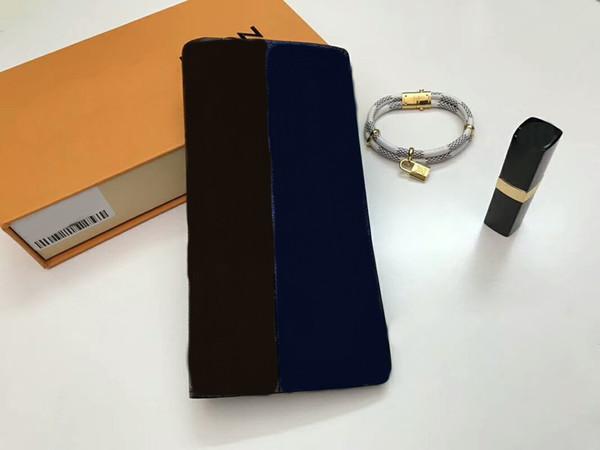 Fashion Women/Men Brazza Long passport Card Holder jones Purses Famous Brand Split Genuine Leather wallets With Box dust bags C35#2