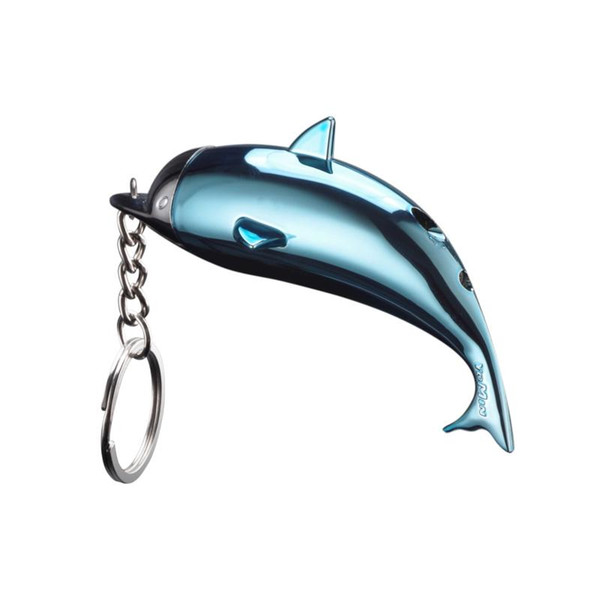 Hot Keychain Lighter Creative Portable Dolphin Shaped Cute Gas Lighters For Women Cigarette Accessory Collection Refillable