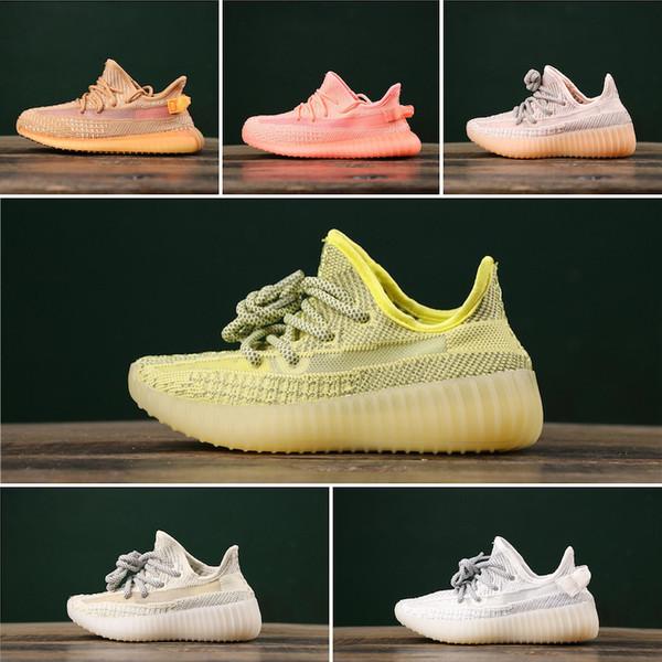 Adidas Yeezy 350 V2 Static kid tn Running Fashion Schuhe v2 Reflective Static Jugendläufer Outdoor SPORT Schuhe Größe 28-35