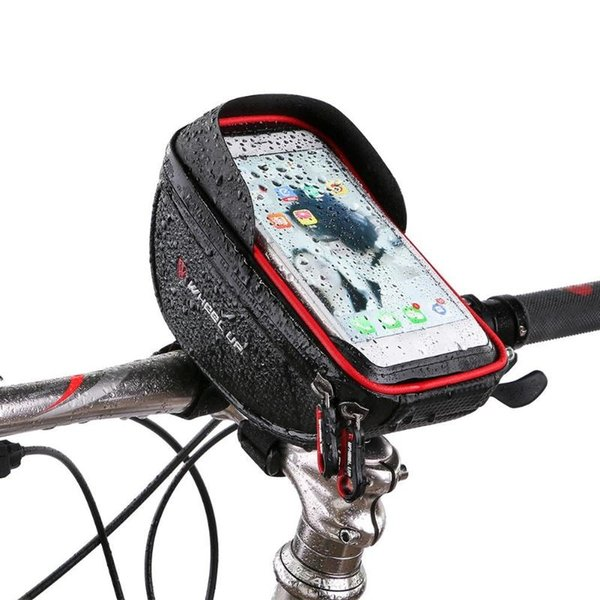 WHEEL UP Waterproof Bicycle Front Bag MTB Road Bike Top Tube Frame Handlebar Touch Screen Bag 6 inch Cycling Pouch phone #79631