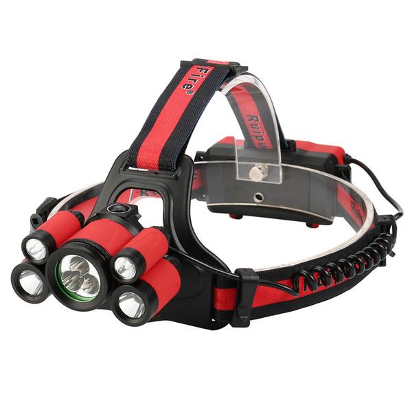 40000 LM 7X XM-L T6 LED Ajustable Recargable Impermeable Faros Faros Set Viaje Camping Pesca Cabeza Antorcha # 5J25