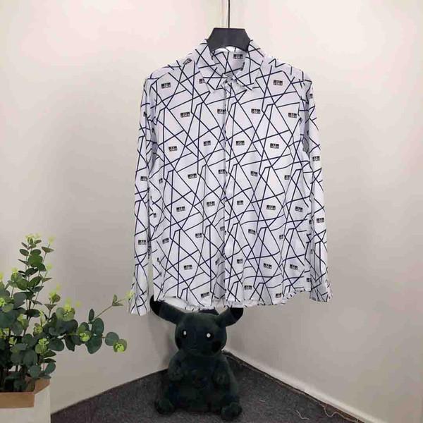 Wholesale Mens Designer T Shirts Mens Clothing Luxury Shirt Fashion Paris head Shirt long Sleeve Cotton Brand Shirt for Men