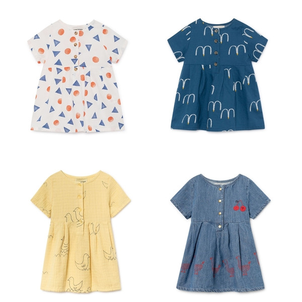 Pre-sale Bobo Choses 2019 Summer Printed Baby Girls Dress Princess Party Dress For Girl Clothes Gift Cute Kids Vestidos Clothes J190619