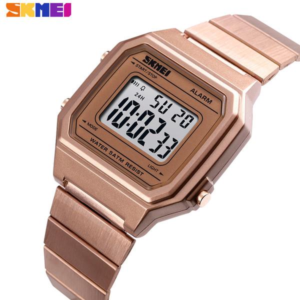 Orologio da uomo di marca SKMEI Cronometro Cronografo Impermeabile Sport Orologi Retroilluminazione di lusso Led Digital orologio da polso sveglia 2019